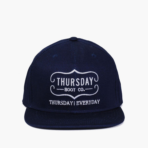 Cotton Snapback Hat | Navy