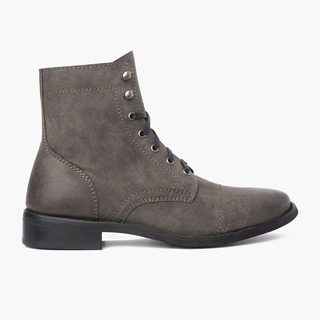 40ca763cbadfb Women's Slate Vegan Captain Lace-Up Boot - Thursday Boot Company