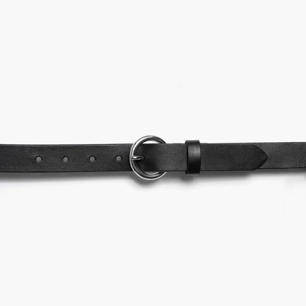 Women's Circle Leather Belt | Black