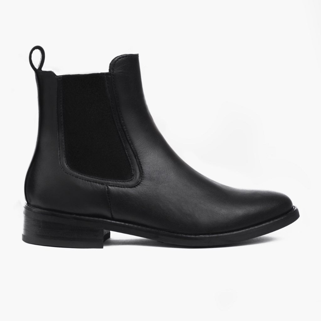 Black Leather Boots For Women