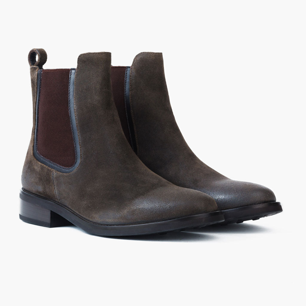 Women s Olive Suede Duchess Chelsea Boot - Thursday Boot Company a64d3b90c0