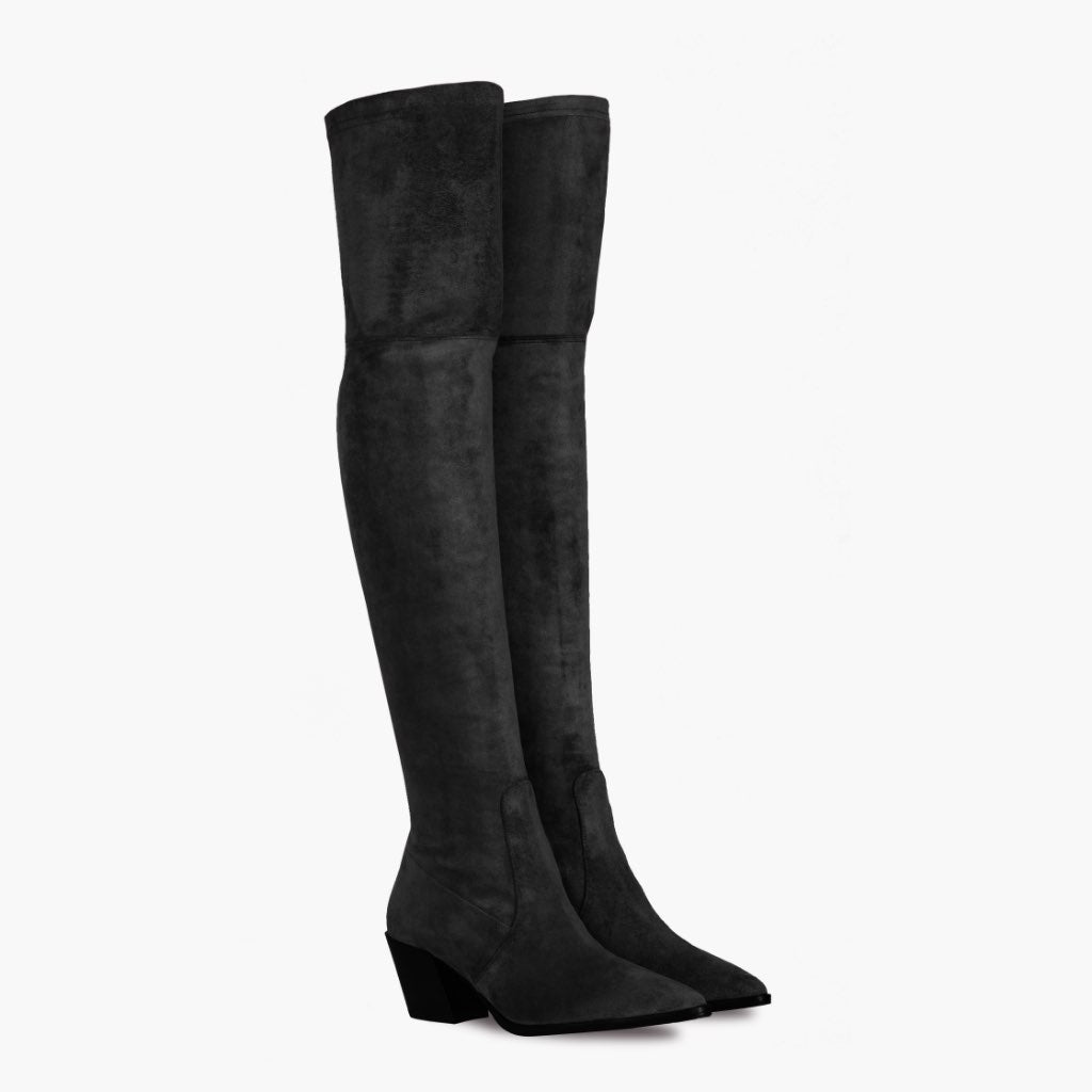 Over The Knee Black Boots For Women