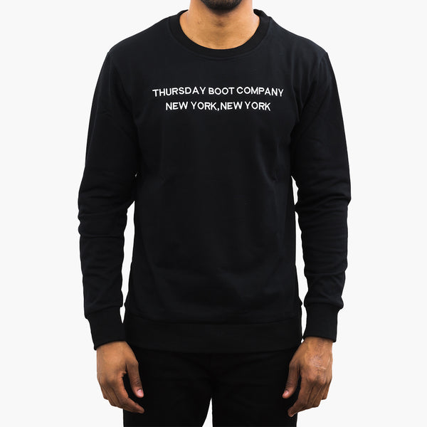 Men's Crew Neck Sweatshirt | Black