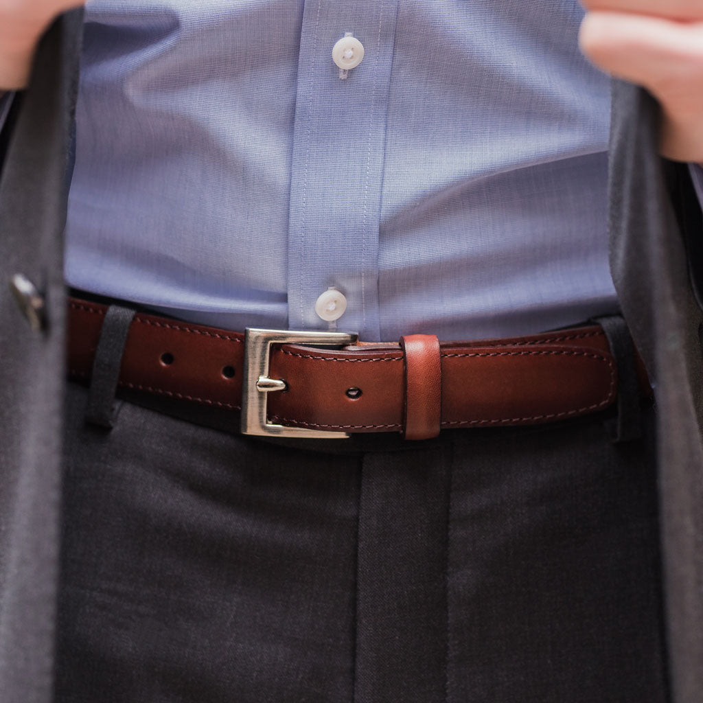 Men's Classic Leather Belt | Brandy