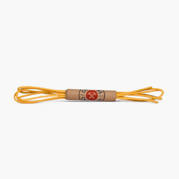 Round Waxed Cotton Laces | Yellow