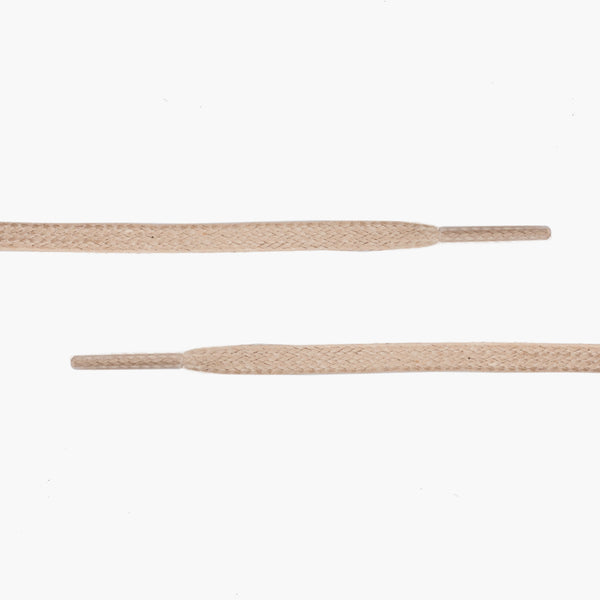 Flat Waxed Cotton Laces | Beige