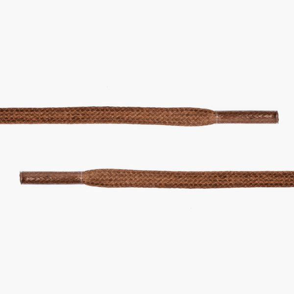 Flat Waxed Cotton Laces | Light Brown