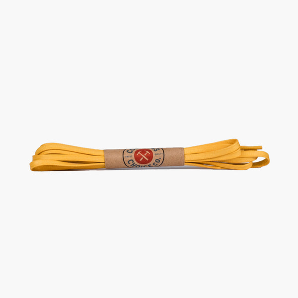 Flat Waxed Cotton Laces | Yellow