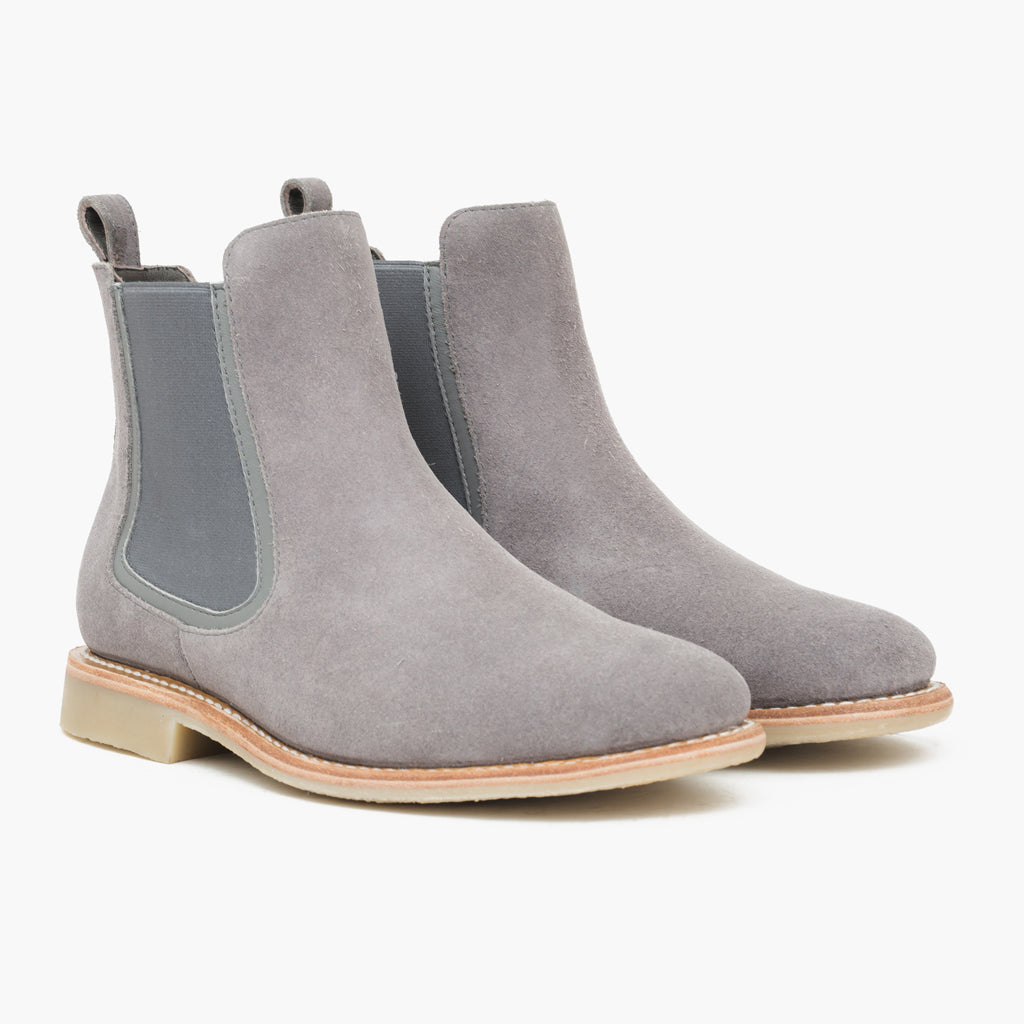 Buy mens grey suede chelsea boots cheap