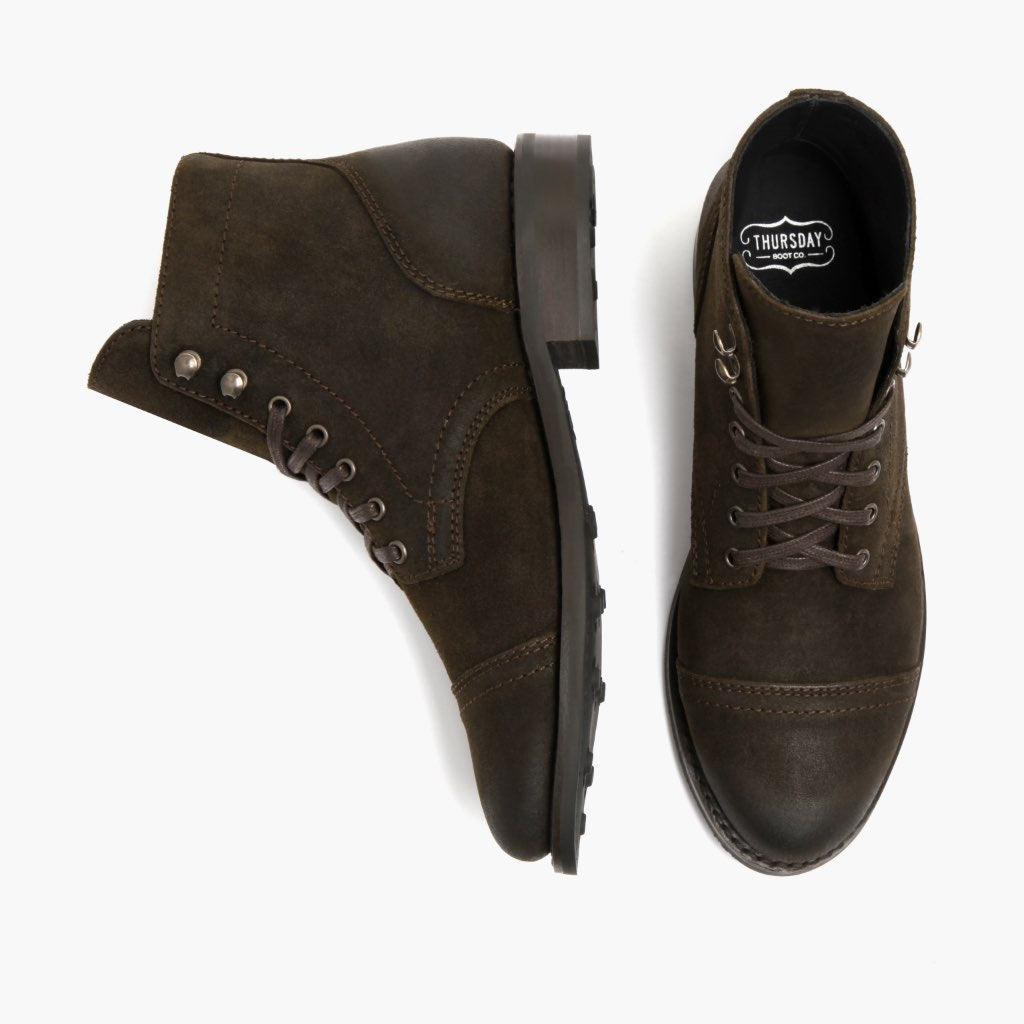 Captain | Dark Olive Suede