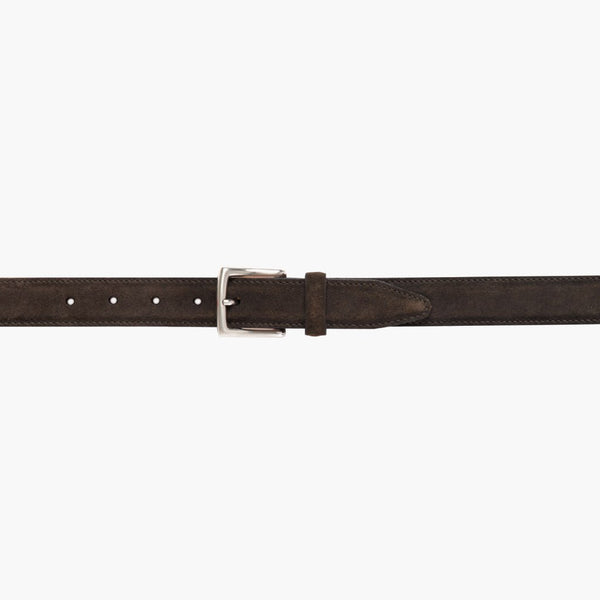 Classic Leather Belt | Dark Olive Suede