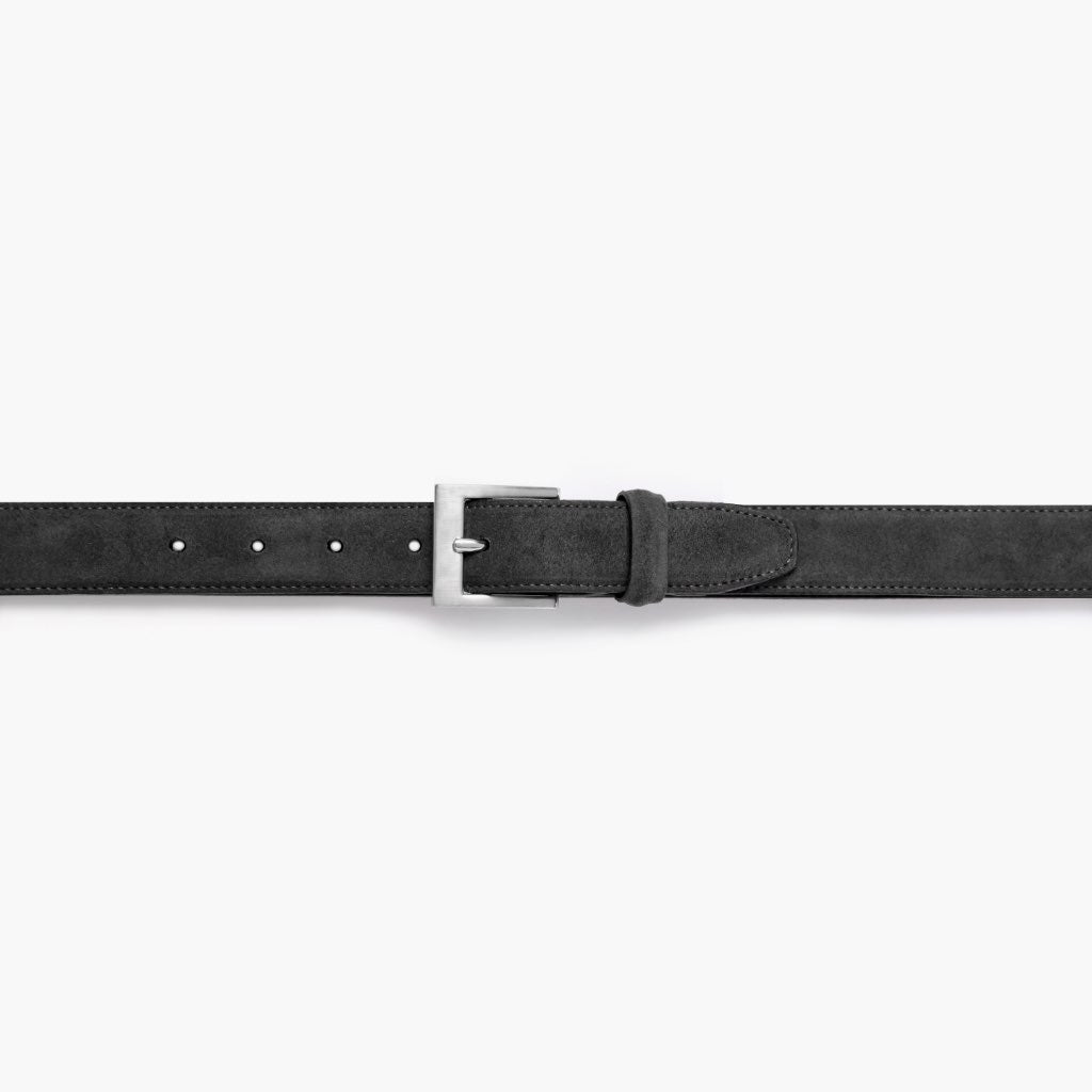 Men's Classic Leather Belt | Shadow Grey