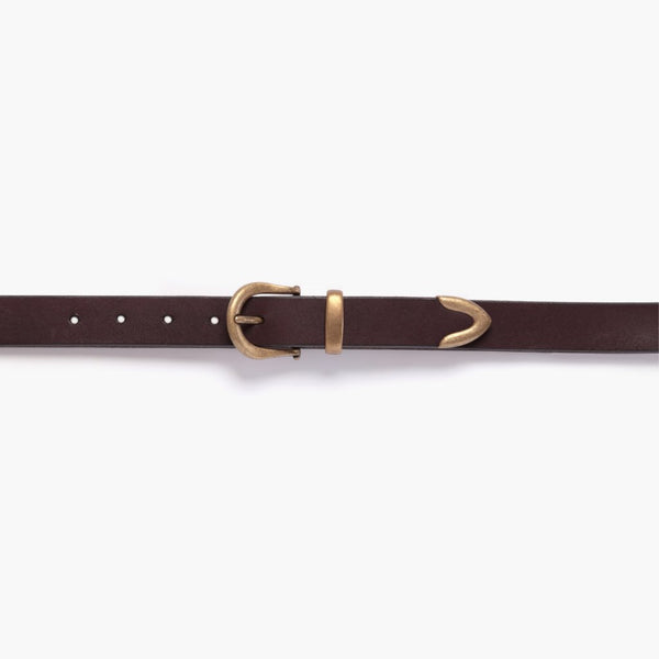 Western Leather Belt | Brown