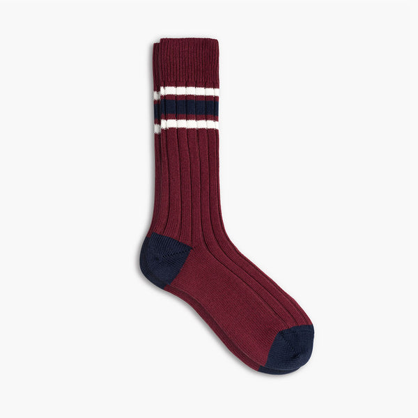 Men's Sodello Legacy Sock | Burgundy Stripes