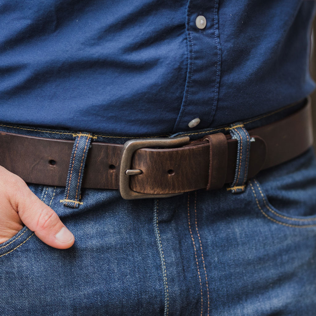 Men's Heritage Leather Belt | Tobacco