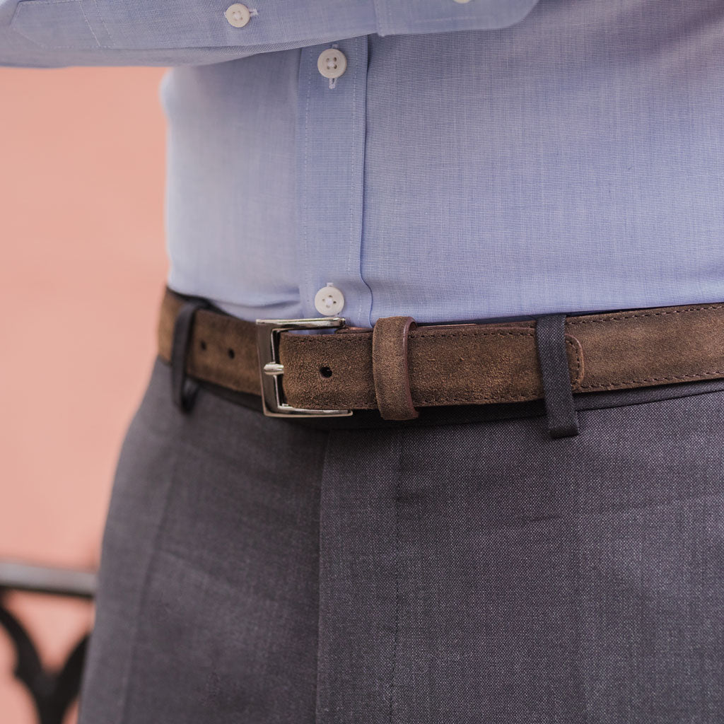 Original Belt | Dark Olive Suede