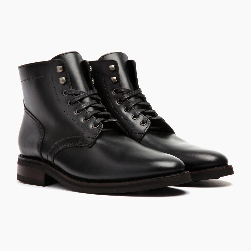 Men's Black President Lace-Up Boot