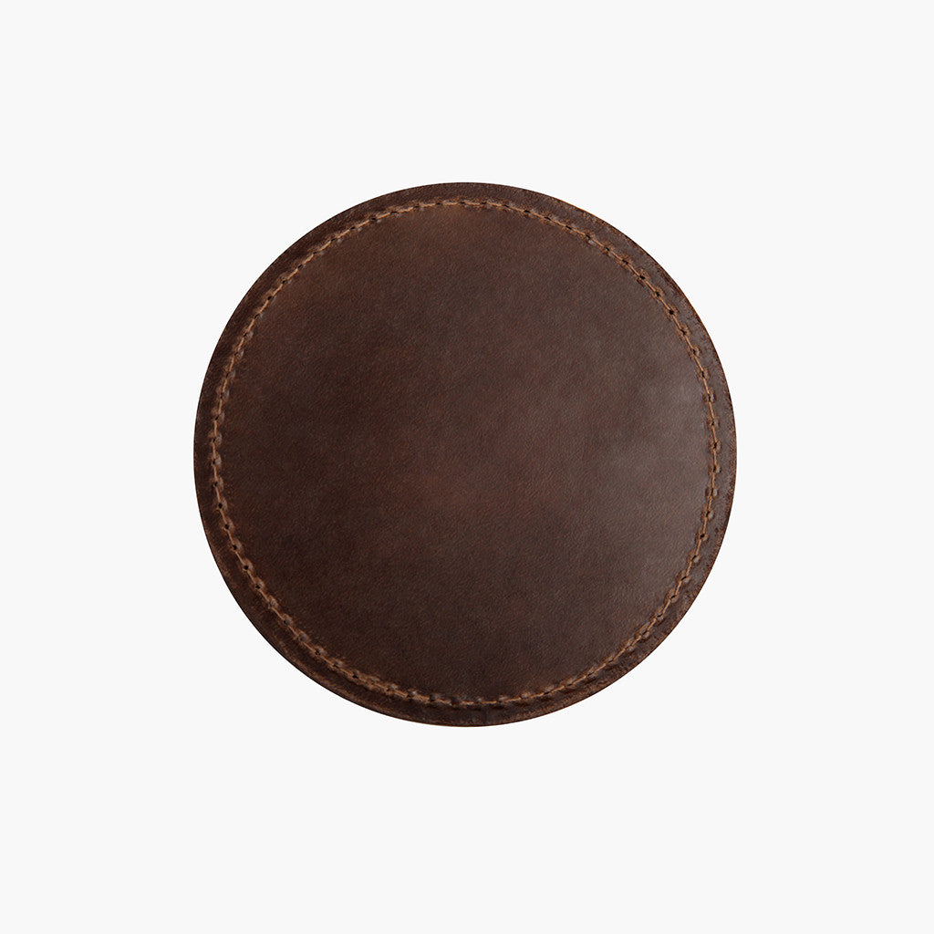 Leather Coaster Set | Natural