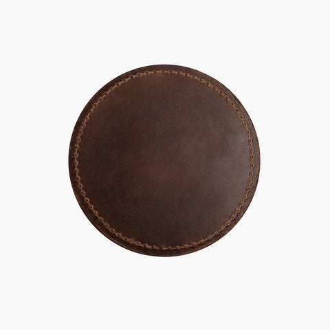 Natural Leather Coaster Set
