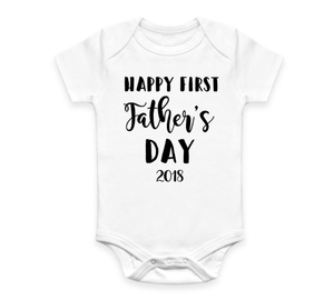 Happy First Fathers Day Bodysuit