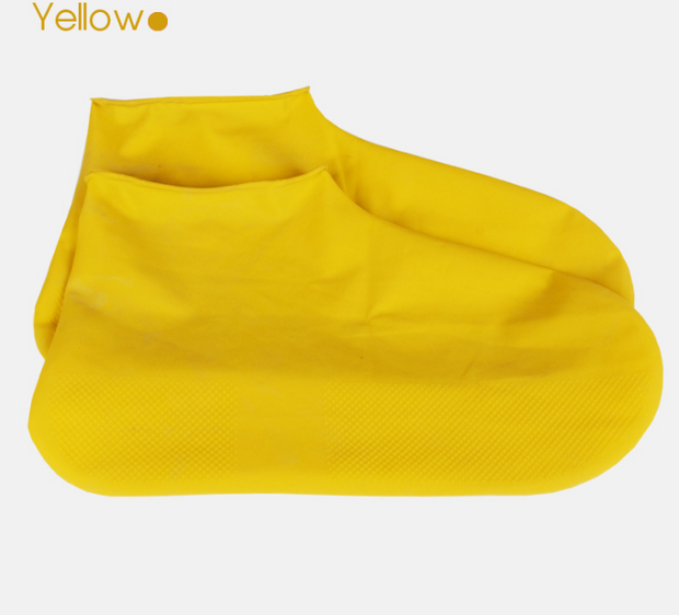 Rubber Anti-slip Waterproof Shoe Cover Reusable Rain Boot Motorcycle Bike Overshoe Blue Yellow for Men Women
