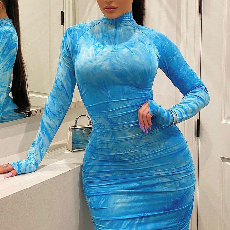 long sleeve party Dress Bodycon Club Dress