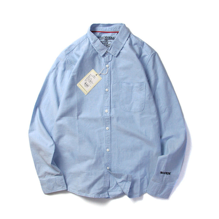 Men's Oxford shirt.