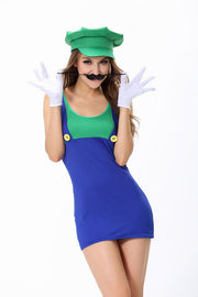 Halloween Costume Super Mario Cosplay Suit.