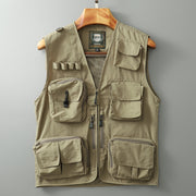 Breathable Outdoor Multi-function Fishing Vest with Mesh