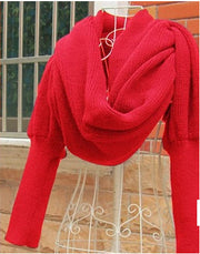 Cashmere Scarf Sweater.