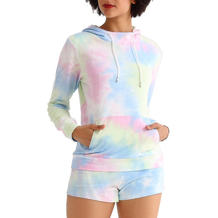 Tie dye leisure suit