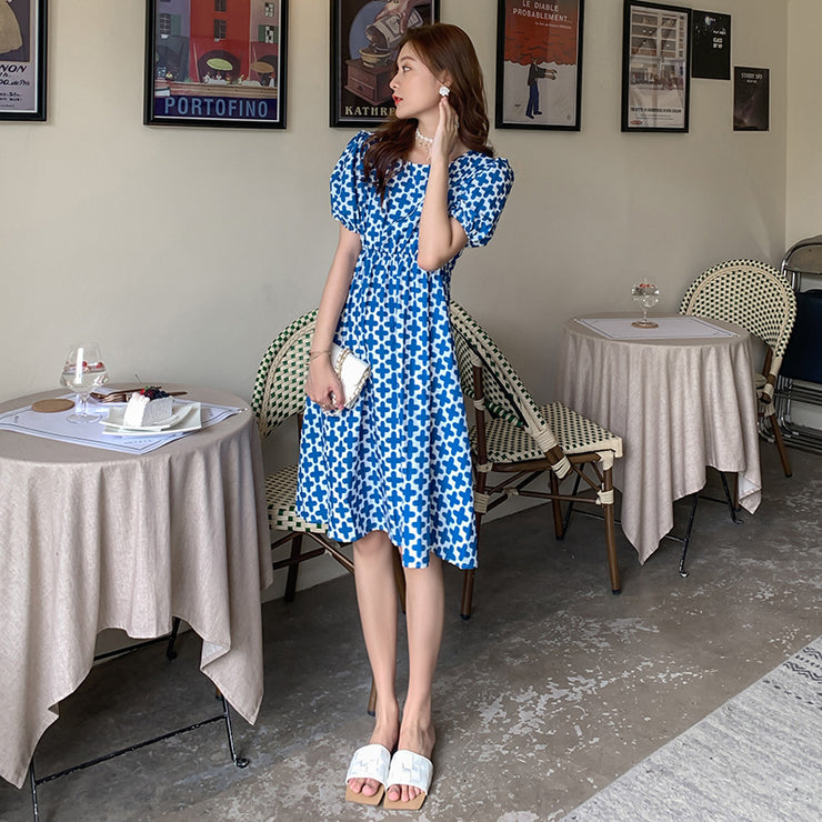 Split Polka Dress