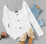 White Office Pullover