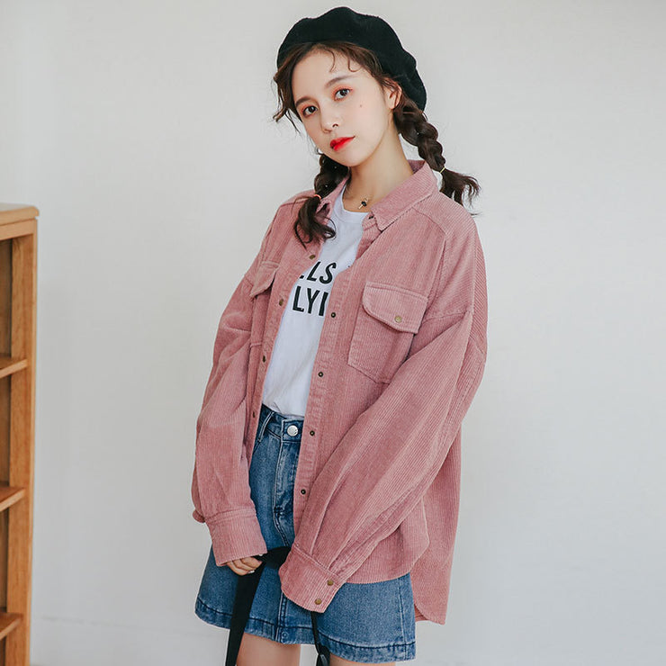 Retro Hong Kong  corduroy Jacket