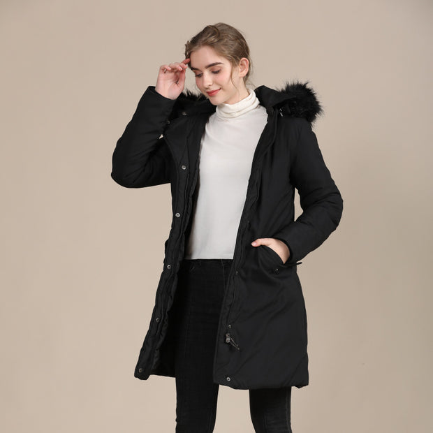 Heavenly Long Hooded Cotton-Padded Jacket