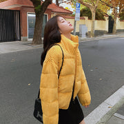 Loose corduroy padded jacket