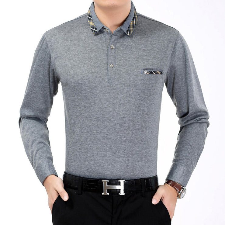 Long sleeved polo top.