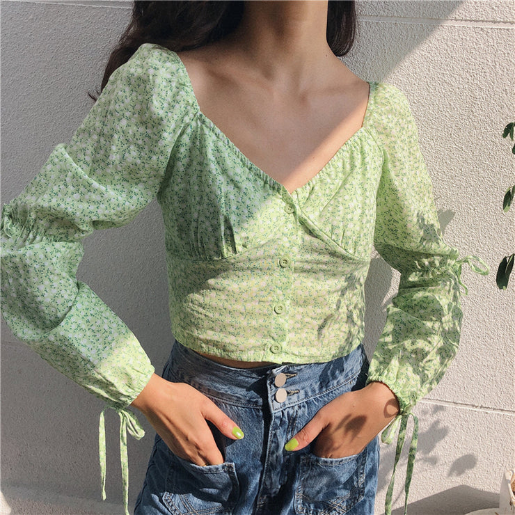French green Blouse