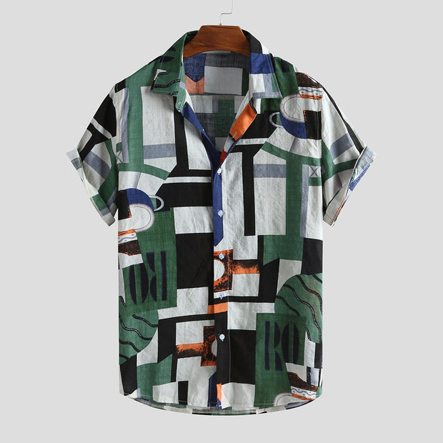 Men's Hawaiian print.