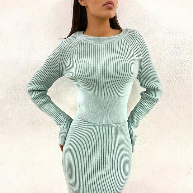 Harper knitted top Set