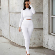 My Favorite Spot Legging Set Two-piece long-sleeved short top