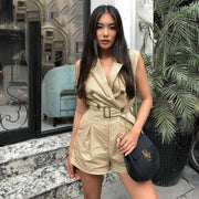 khaki  summer playsuit