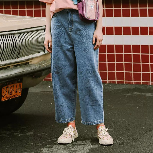 Denim Pantalon Preppy Style Jeans Trousers