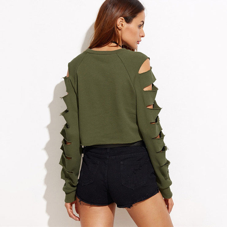 Open  hole sweater
