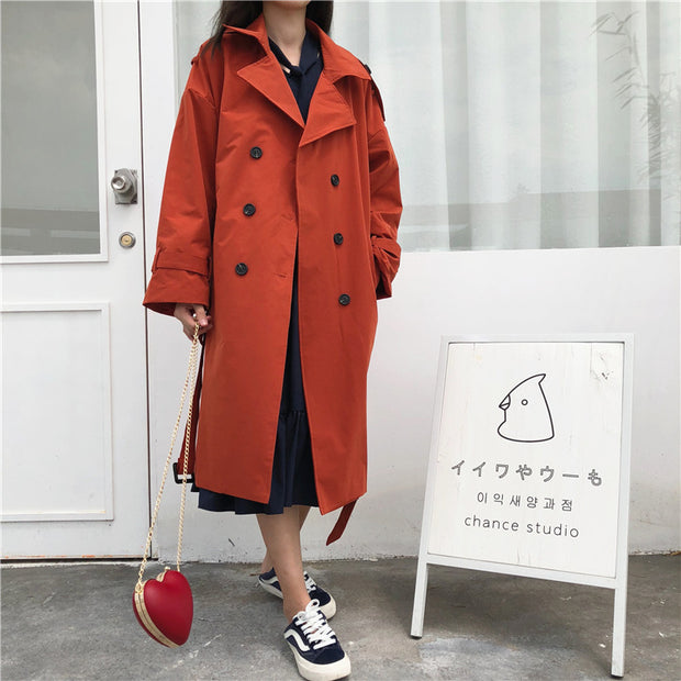 Lapel Trench Coat