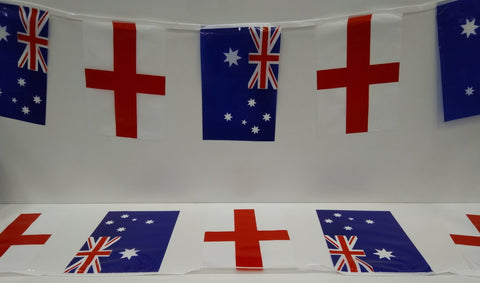 Australia and England Alternating String Country Flags