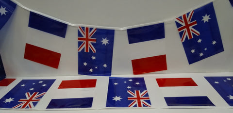Australia and France Alternating String Country Flags