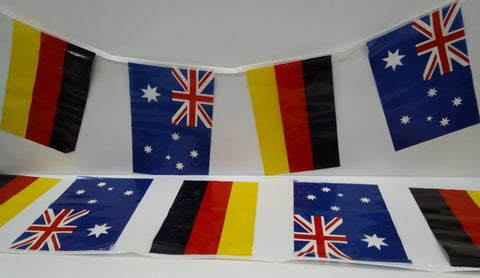 Australia and Germany Alternating String Country Flags