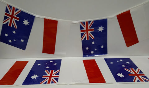 Australia and Indonesia Alternating String Country Flags