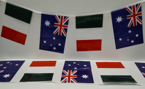 Australia and Italy Alternating String Country Flags